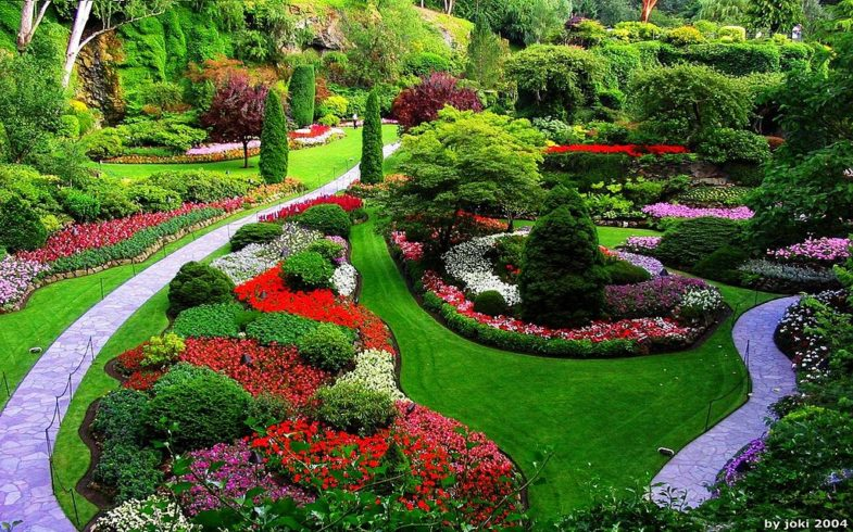 Butchart Gardens…
