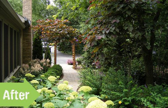Proměna vstupní části do zahrady
