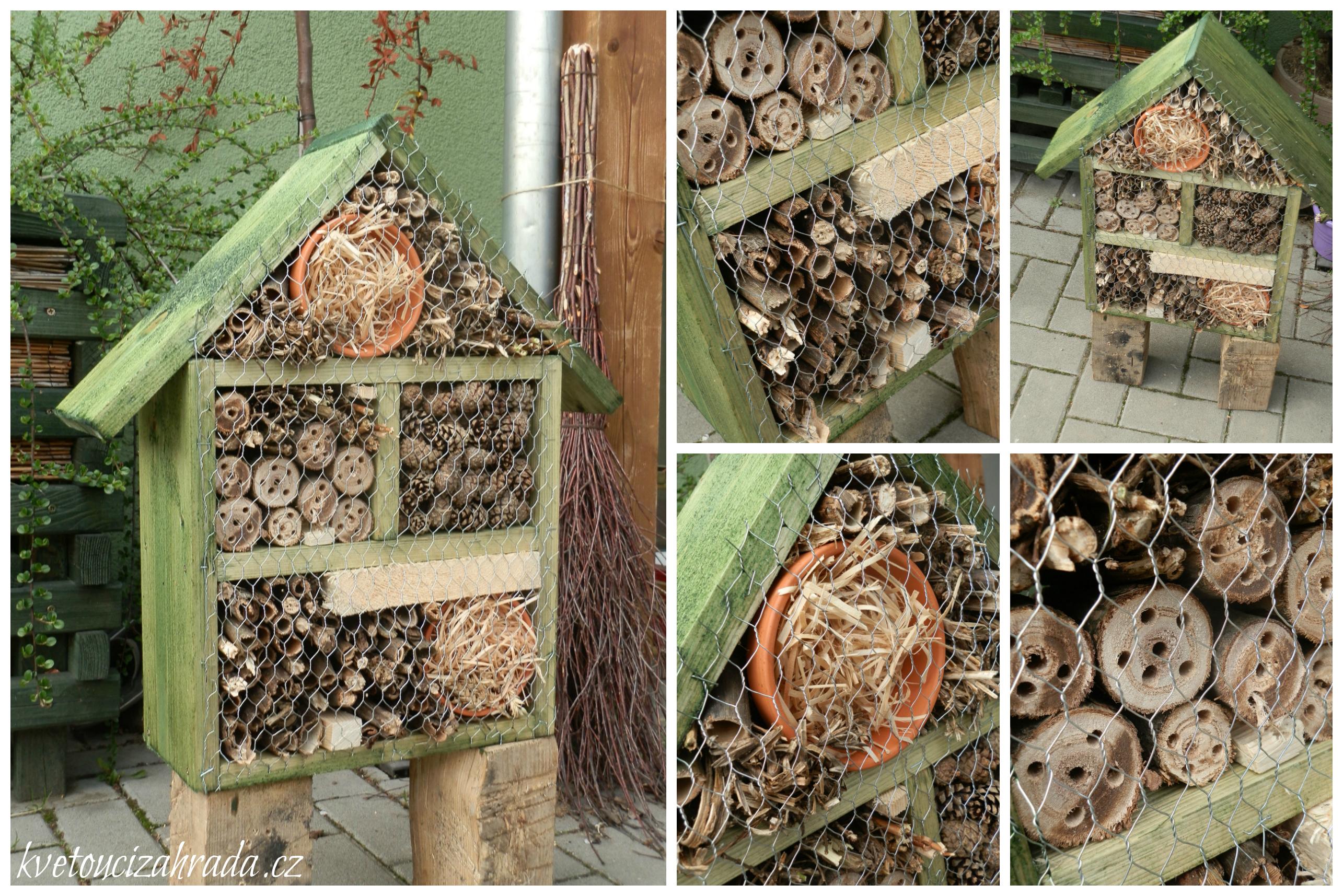 Hmyzí domeček příprava