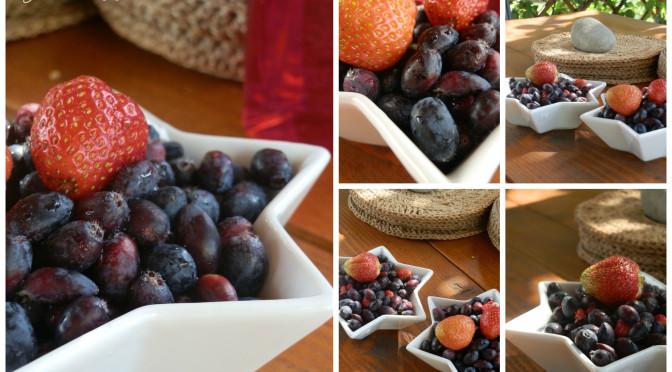 První letošní ovoce ze zahrádky…